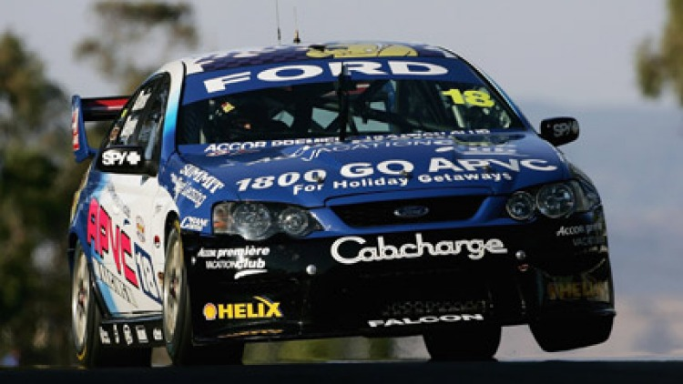 Alex Davison in action during the qualifying session for the Bathurst 1000 V8 Supercars race. October 6, 2006. (Picture: Getty Images)