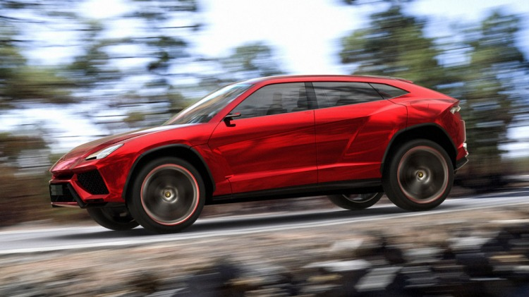 Lamborghini Urus SUV concept car.