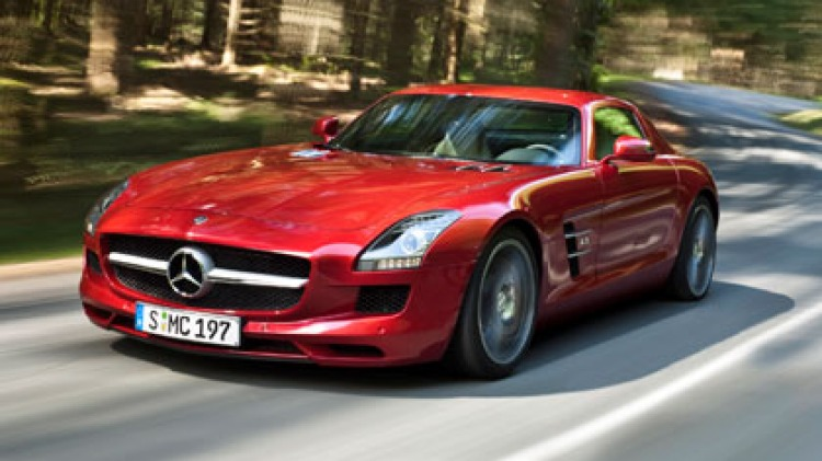 """Developers say the electric version of the Mercedes-Benz SLS Gullwing will """"never"""" emit a fake rumble."""