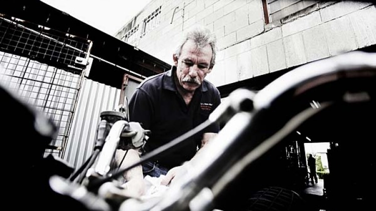 Chris Ray inspects every bike that comes to his garage with a fine-tooth comb.