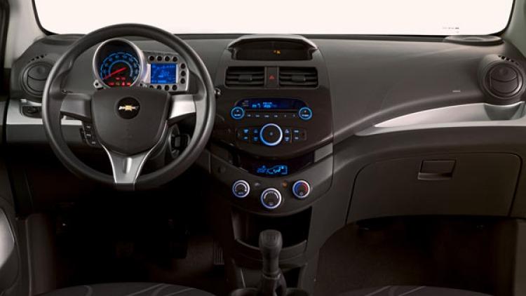 Chevrolet Spark interior.