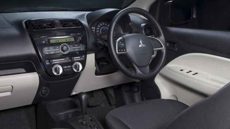 Mitsubishi Mirage ES Sport interior.