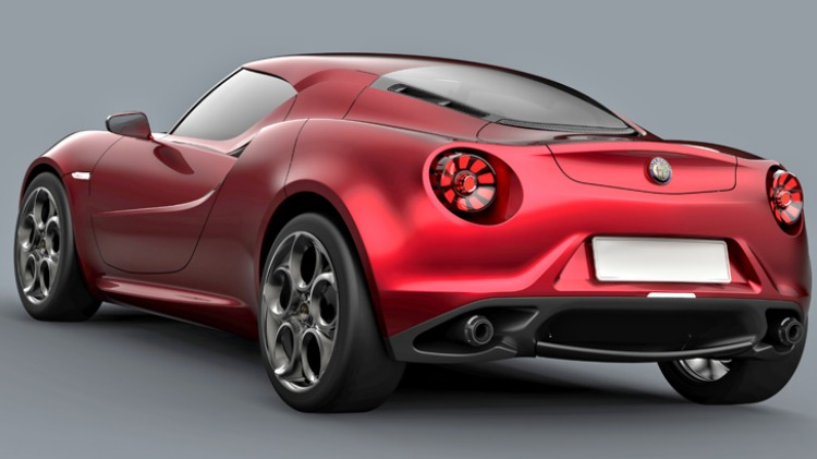 Alfa's mid-engined rear-wheel-drive coupe concept.