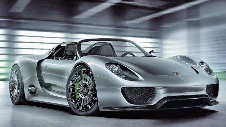 Porsche's hybrid 918 Spyder sports car concept.