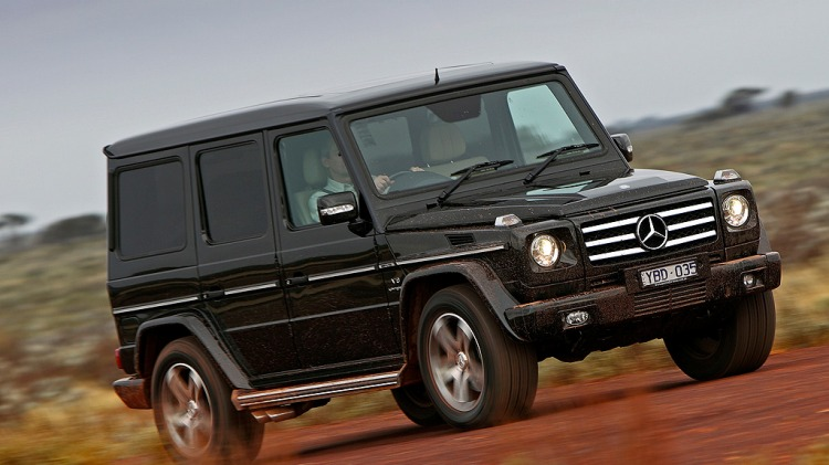 Mercedes-Benz's G55 AMG comes equipped with a supercharged V8 engine.