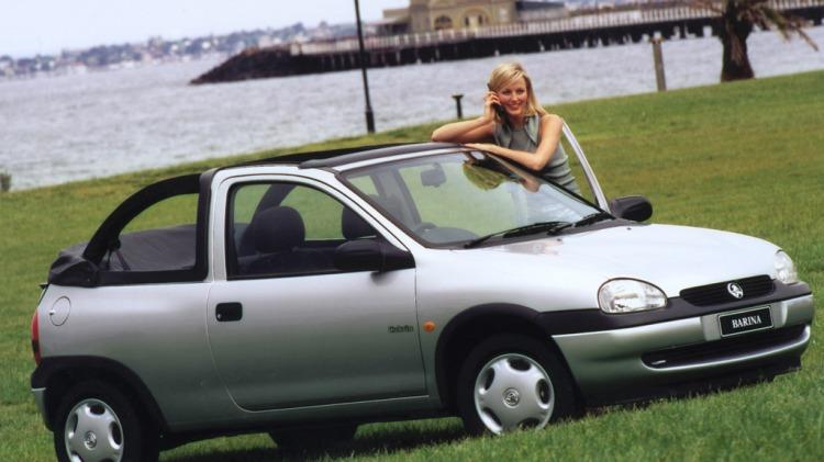 The Holden Barina Cabrio.