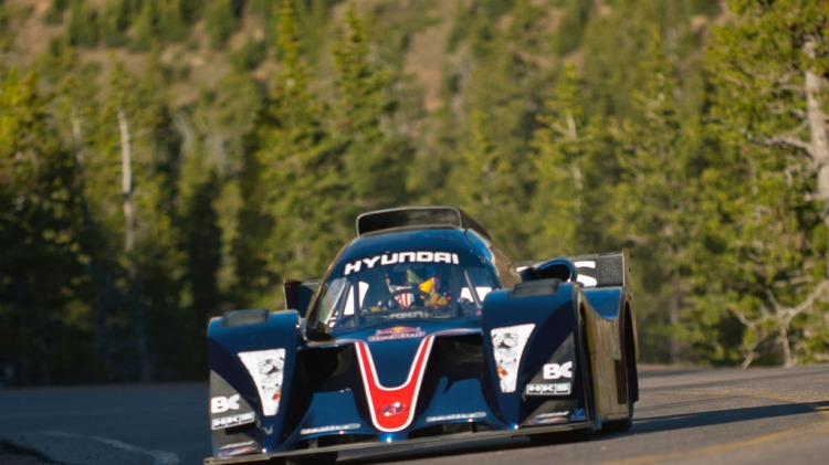 New Zealand-born rally racer, drifter and stunt driver Rhys Millen competing in last year's Pikes peak International Hill Climb.