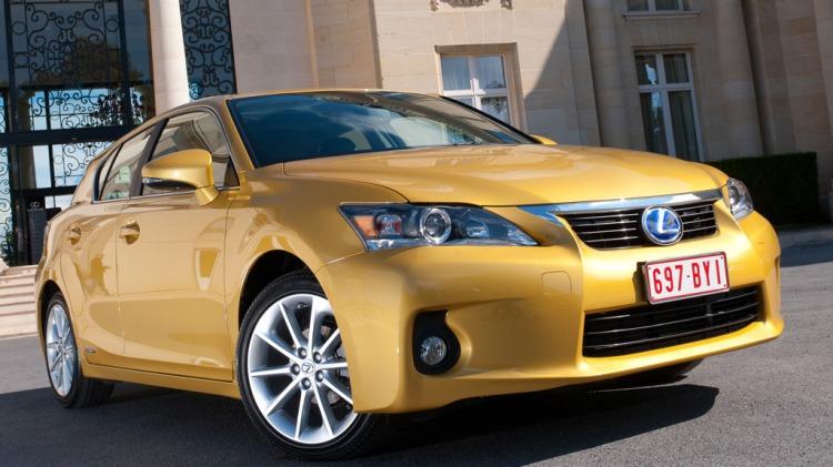 Lexus CT200h hybrid hatchback.