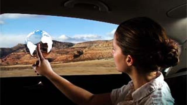 Smart aps in car windows.