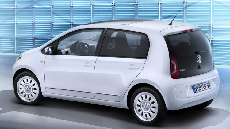 VW Up five-door city car.