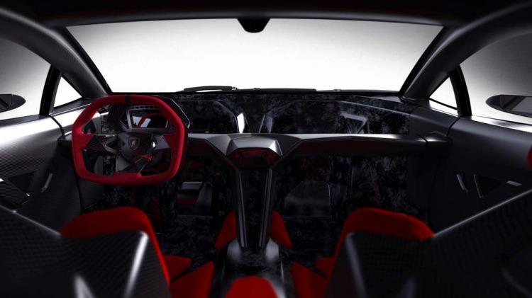 Lamborghini Sesto Elemento concept car.