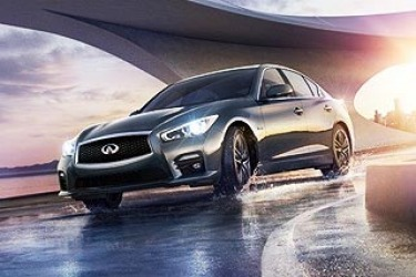 Images of the new Infiniti Q50 sedan have leaked online ahead of the car's launch at the Detroit motor show this week. The pictures were published online by the brand's Canadian arm, but have since been taken down