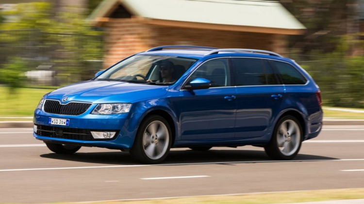 New Skoda Octavia wagon.