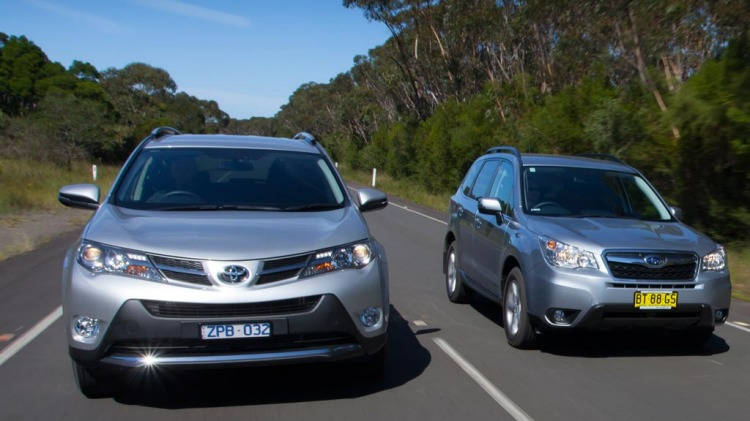Families tastes have shifted from sedans to SUV, so we put the Mazda CX-5, Honda CR-V, Subaru Forester and Toyota RAV4 to the test.