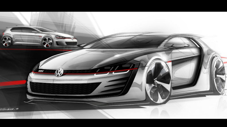 Sketches of the Design Vision GTi.