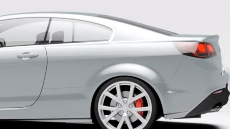 The Holden VF Monaro design concept.