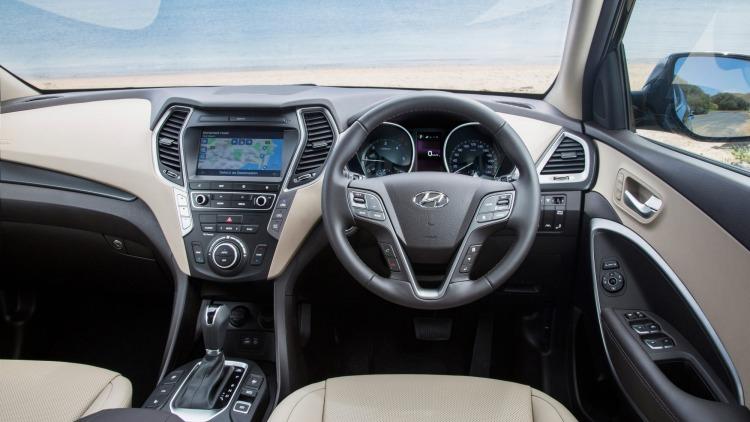 Hyundai has upgraded the Santa Fe's interior.