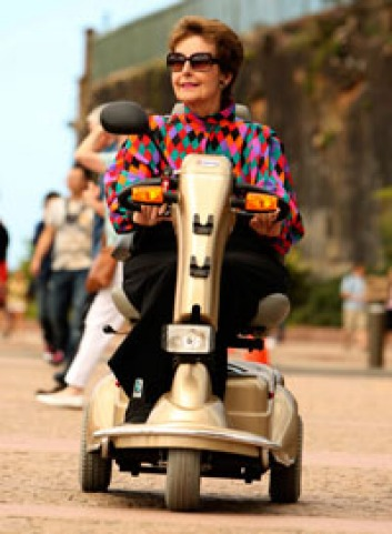 Out and about ... Giovanna Pawson with her scooter.