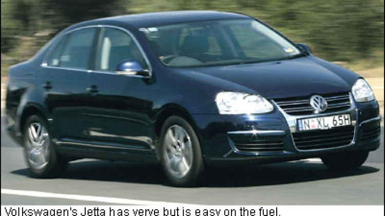 The Volkswagen Jetta has verve but is easy on the fuel. GARY MEDLICOTT.