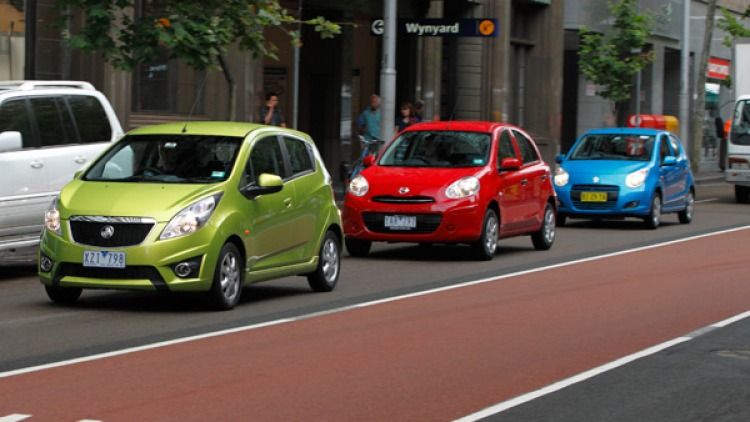 Holden's new Barina Spark lines up against the Nissan Micra and Suzuki Alto to determine which micro-car is leader of the pack.