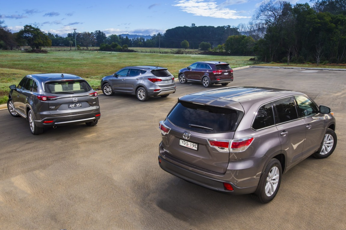 Can the all new Mazda CX-9 take down its established rivals the Kia Sorento, Toyota Kluger and Hyundai Santa Fe.