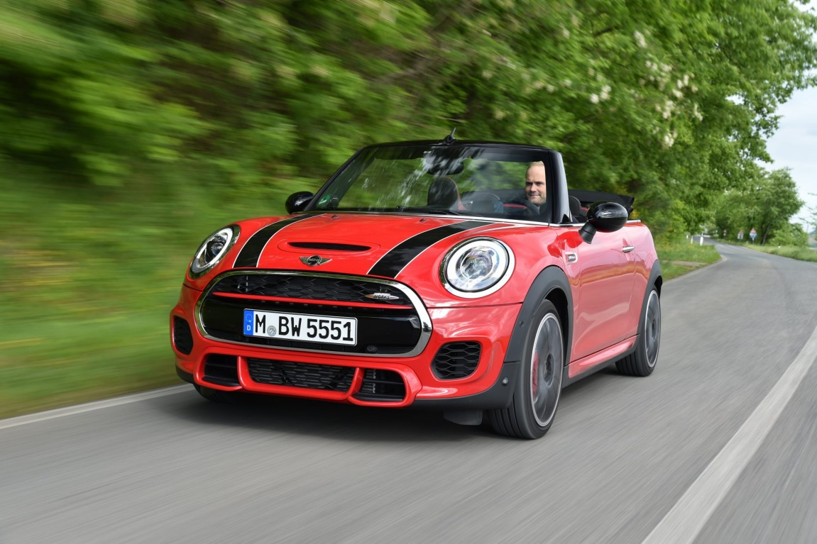 The 2016 Mini JCW Convertible is the brand's most powerful drop-top yet.