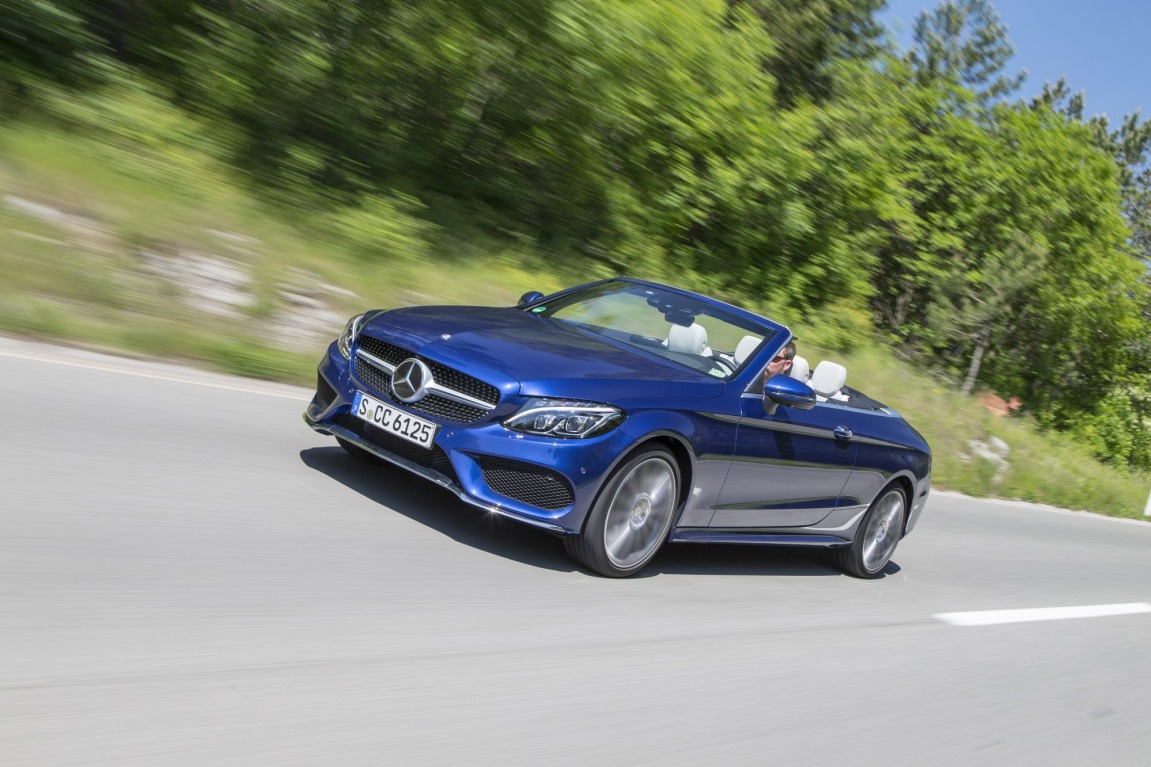New Mercedes-Benz C-Class convertible.