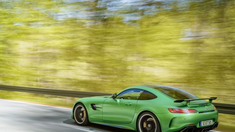 "Mercedes launched the car in special paint named ""green hell"" after the Nurburgring."