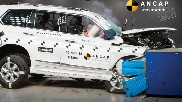 The Haval H9 received a four-star ANCAP crash test rating.