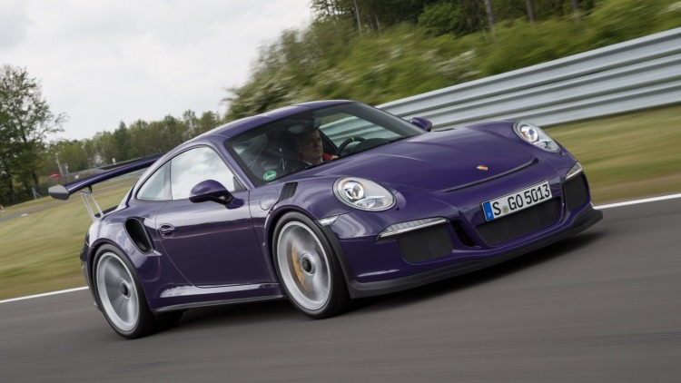 Porsche's top sports cars, like the 911 GT3 RS pictured, will continue with naturally-aspirated engines for now.