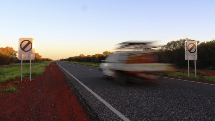 A 300km section of the Stuart Highway in the Northern Territory now features open speed limits.