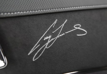 Making his mark: Craig Lowndes' signature is scattered over the interior