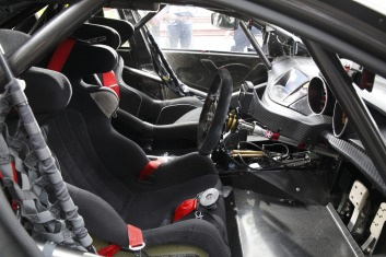 The office: The interior of Lowndes' Red Bull racing Holden.