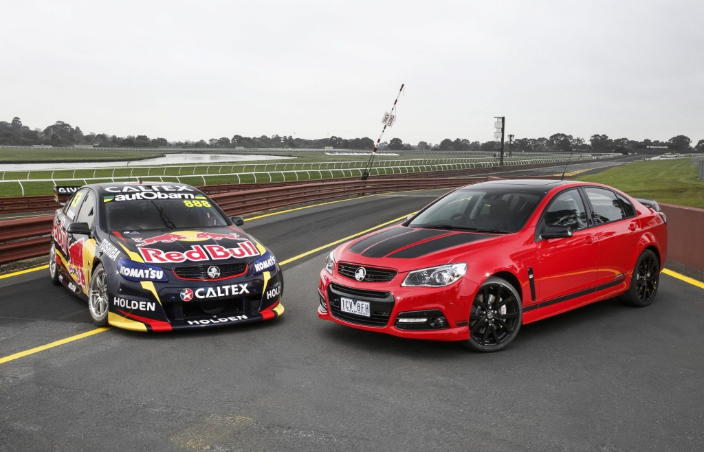 Craig's Commodore: Red Bull racer meets Lowndes Edition road car.