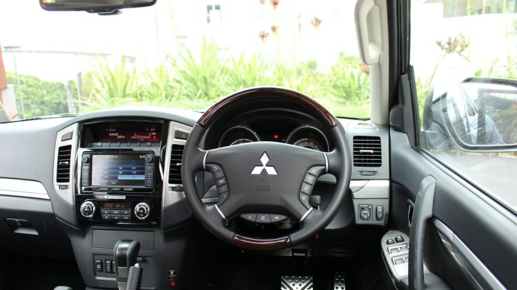 Design: The Pajero's cabin is starting to show its age although there are plenty of new gadgets to boast about.