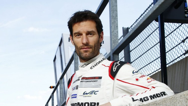 Mark Webber will start from the front row at this weekend's Le mans 24 Hour race.