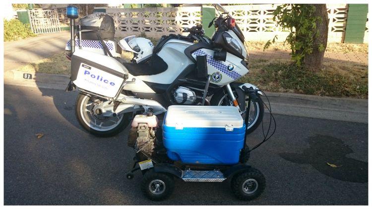 Police seized a powered Esky in South Australia.