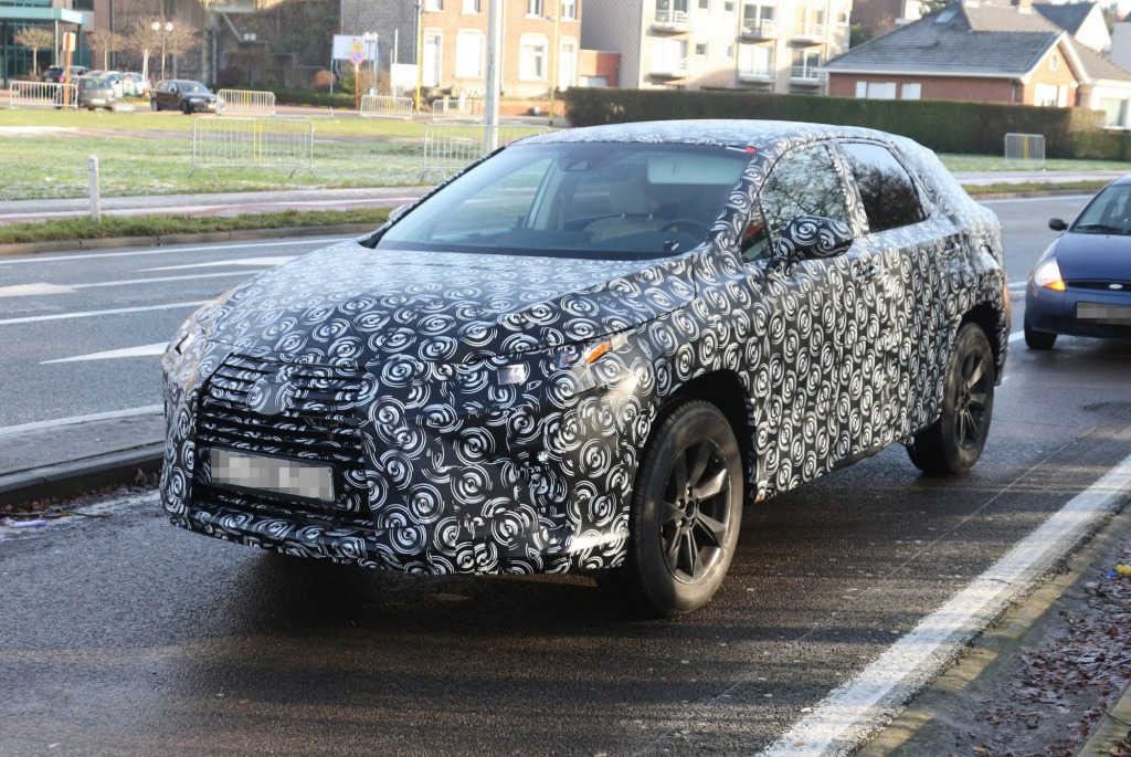 Lexus has been caught testing a new version of its RX SUV.