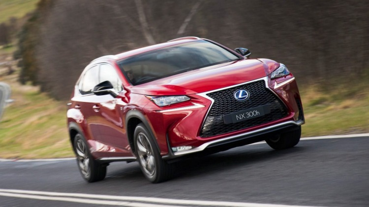 The new RX will share styling cues with its smaller NX sibling.
