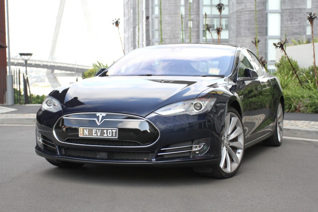 The Tesla Model S offers electric performance.