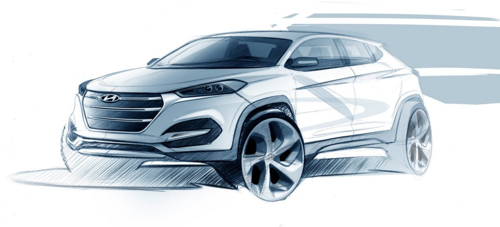 The upcoming Hyundai Tucson.