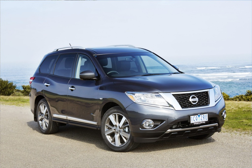 The Nissan Pathfinder Hybrid is the best fit for Hamish's need for fuel efficiency and a roomy cabin.