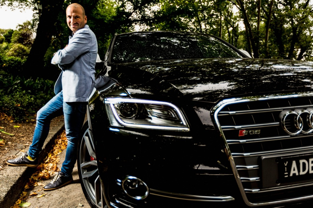 Celebrity chef and MasterChef judge George Calombaris with his Audi.