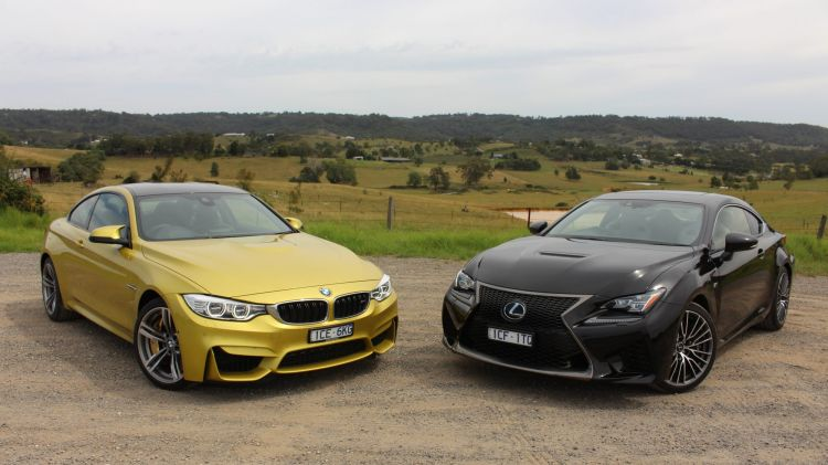 Head-to-head: BMW M4 v Lexus RC F