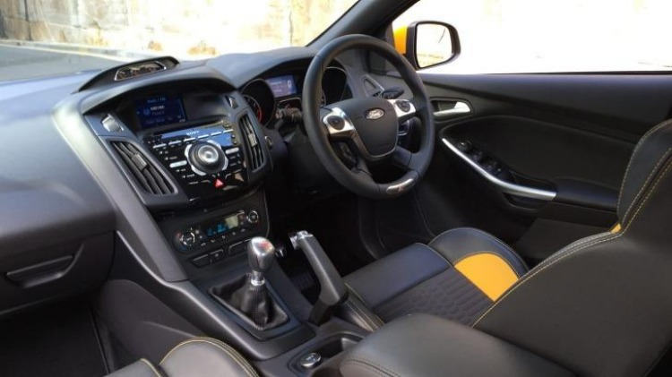 Ford Focus ST has a racy interior.