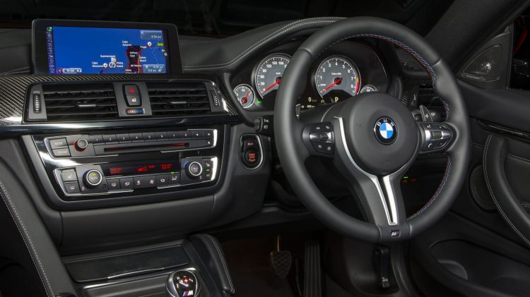 The BMW M4 interior.