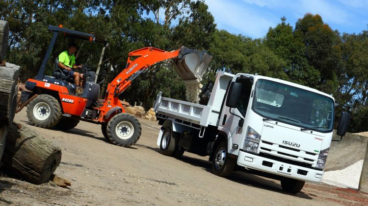 Work horse: Isuzu's NPR 300 Tipper is a small yet capable load carrier.