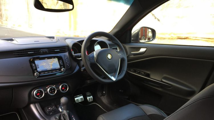 The Alfa Romeo Giulietta's interior is a pleasant place to be.