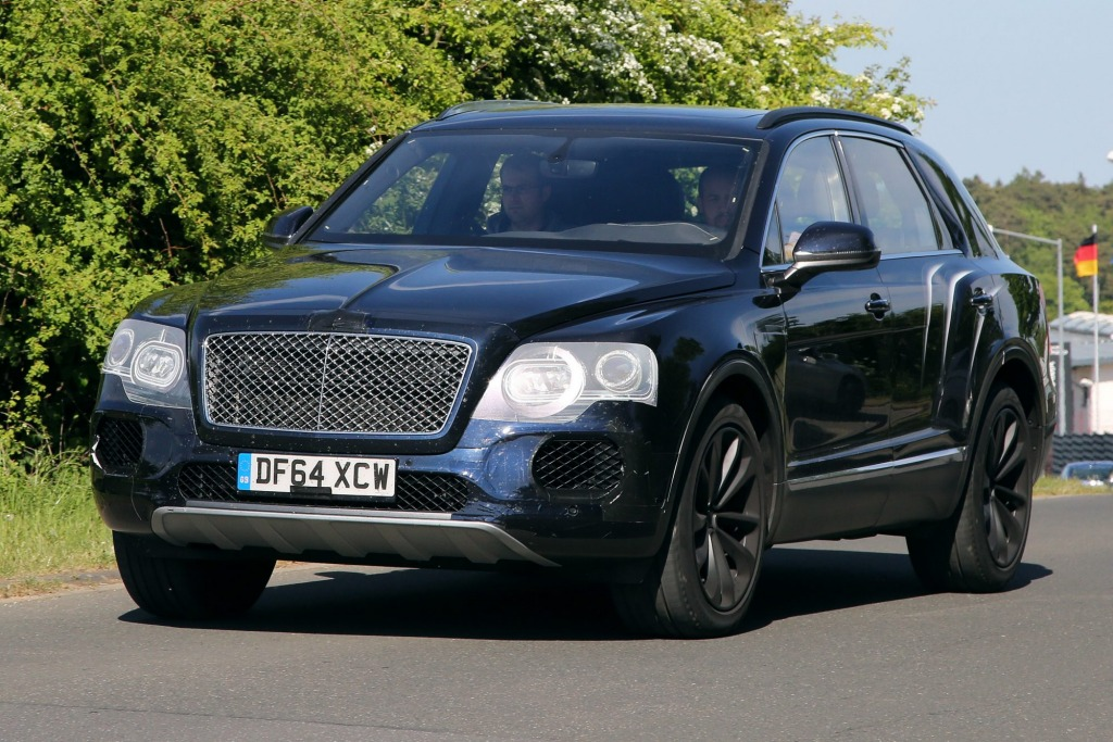 Bentley's upcoming Bentayga (pictured in prototype form) could be joined by a smaller SUV.