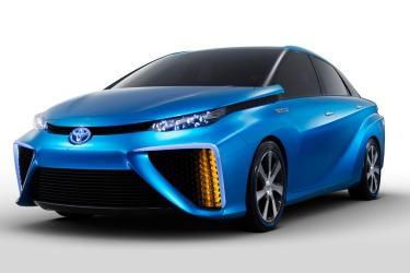 Toyota Mirai hydrogen fuel cell concept vehicle.